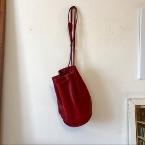 Rare Vintage Coach Bixby Bag In Red